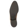 Kožená kotníčková obuv se zipem bata, hnědá, 594-3518 - 26