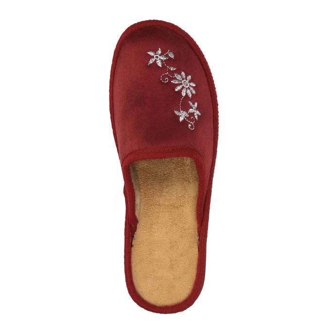 Dámská domácí obuv bata, červená, 579-5348 - 19