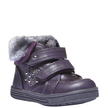 Dětské kotníkové boty s kožešinkou mini-b, fialová, 121-9102 - 13