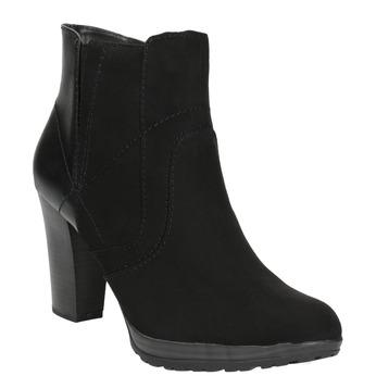 Kotníčková obuv na podpatku bata, černá, 791-6602 - 13