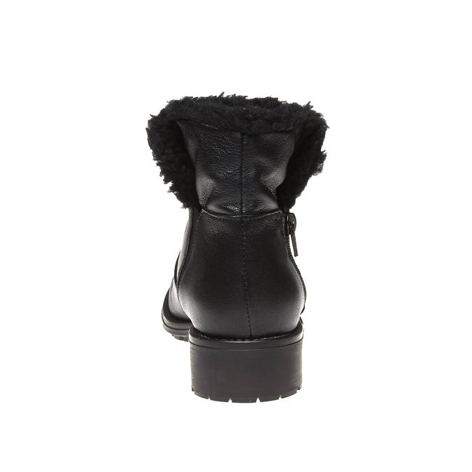 Genie - kotníčková obuv s kožíškem bata, černá, 594-6506 - 17