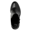 Kotníčková obuv na podpatku s přezkou bata, černá, 791-6610 - 19