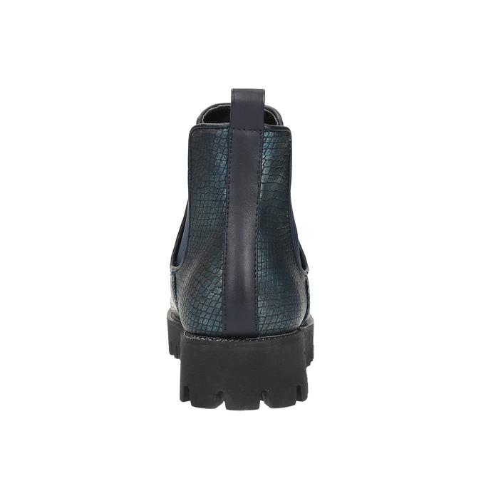 Dámská kotníčková obuv bata, modrá, 591-9616 - 17