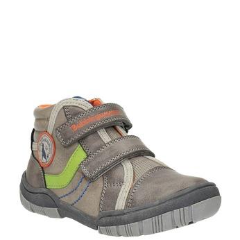 Dětská kotníčková obuv na suché zipy mini-b, šedá, 211-2605 - 13