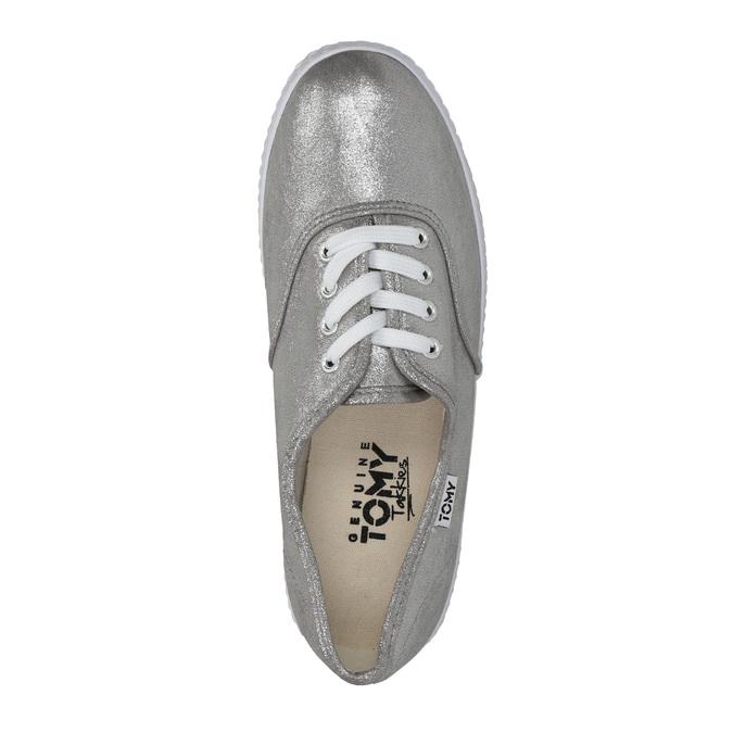 Dámské stříbrné tenisky bata, stříbrná, 519-1690 - 19