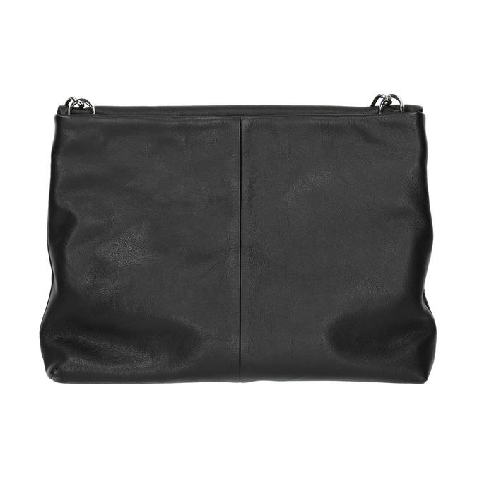 Menší kožená kabelka s řetízkem vagabond, černá, 964-6005 - 19