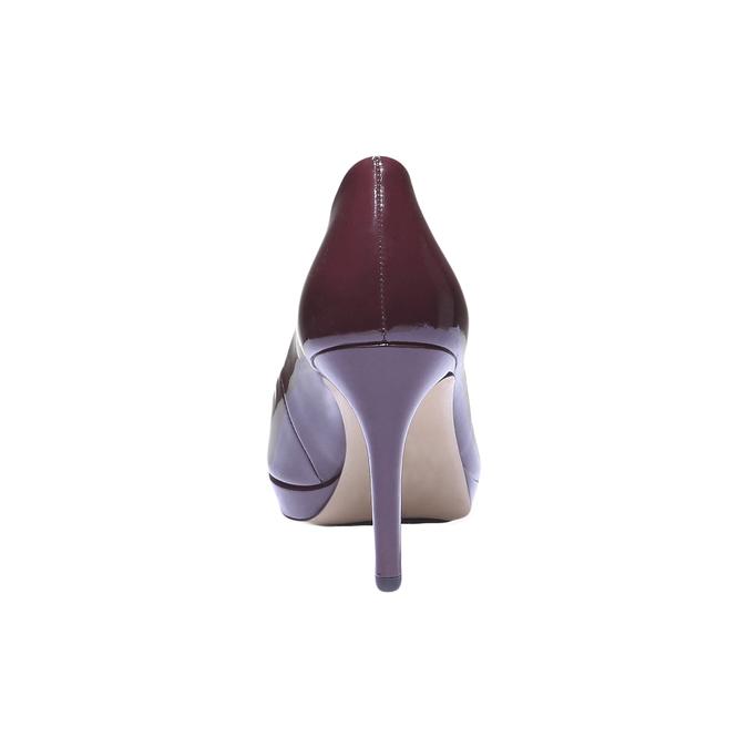 Kožené lodičky hogl, fialová, 728-5526 - 17
