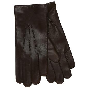 Kožené rukavice s vlněnou podšívkou junek, hnědá, 924-4026 - 13