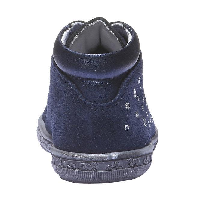 Kožené kotníčkové tenisky richter, modrá, 123-9001 - 17