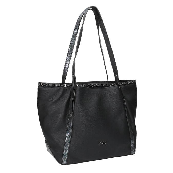Dámská černá kabelka gabor-bags, černá, 961-6006 - 13