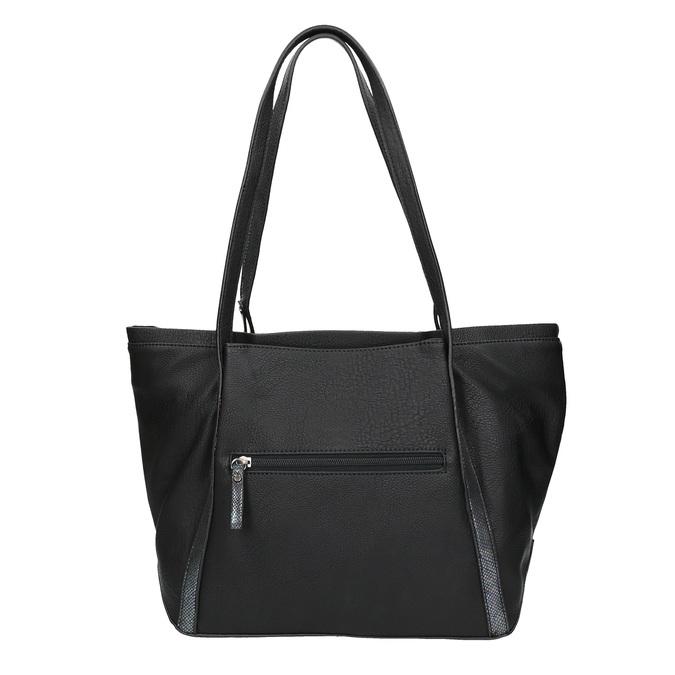 Dámská černá kabelka gabor-bags, černá, 961-6006 - 19