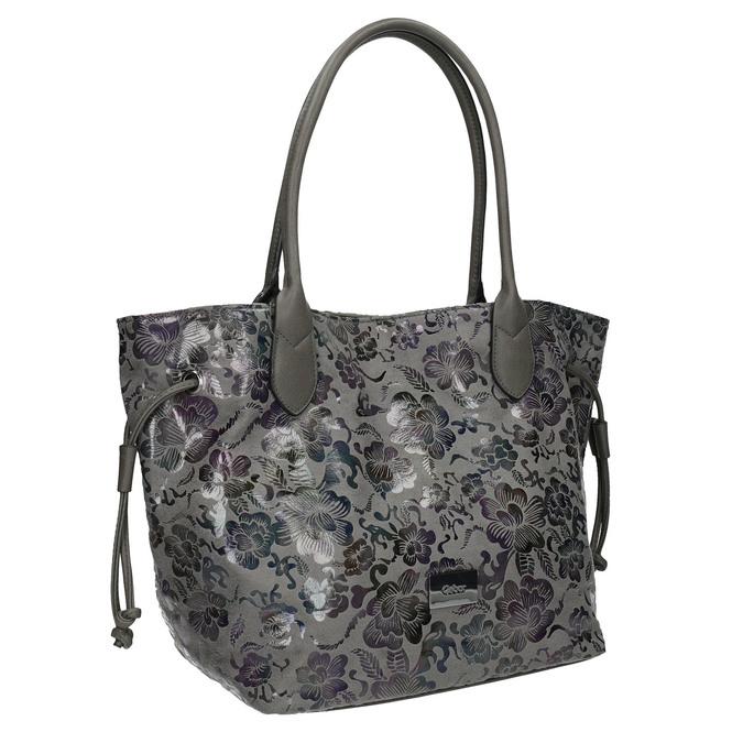 Dámská kabelka s květinovým vzorem gabor-bags, šedá, 961-2008 - 13