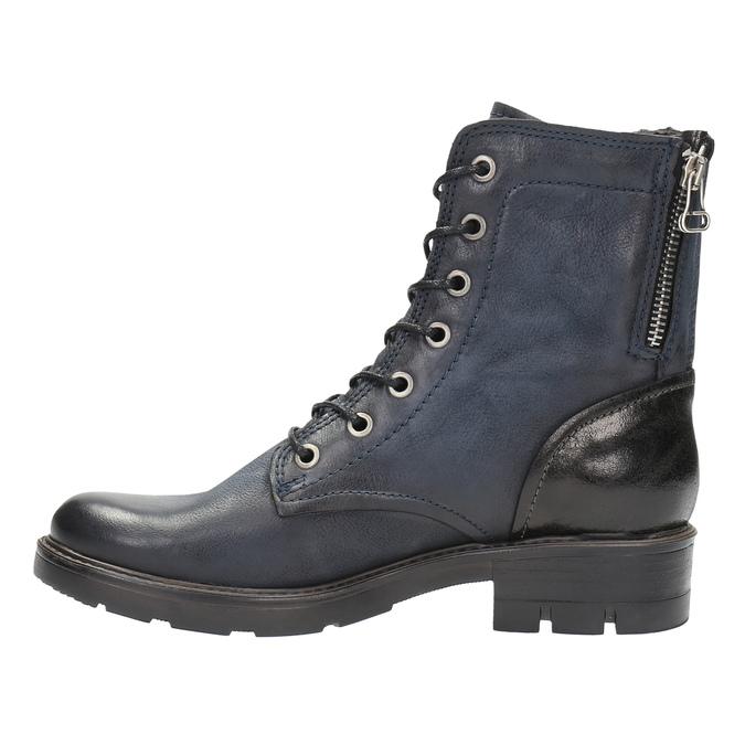 Kožená kotníčková obuv modrá bata, modrá, 596-9616 - 26