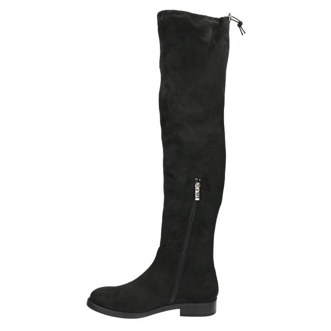 Dámské kozačky nad kolena bata, černá, 599-6608 - 19