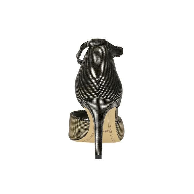 Sandály na jehlovém podpatku se zlatými odlesky bata, černá, 729-8630 - 17