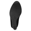 Kozačky na klínovém podpatku s chlupatým lemem bata, černá, 799-6630 - 26