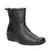 Kožená kotníčková obuv se zipy bata, černá, 594-6634 - 13