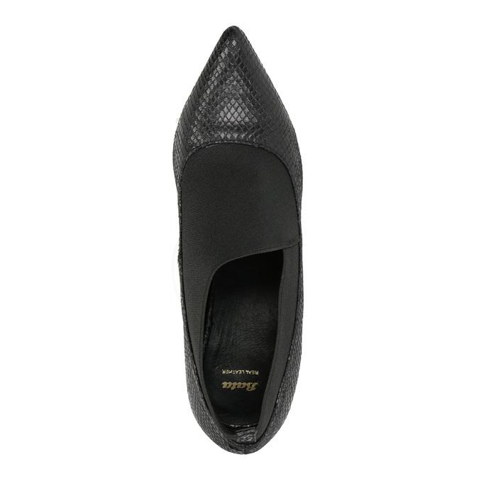 Lodičky s pružným lemem bata, černá, 721-6600 - 19