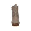 Dětská šněrovací obuv s kamínky mini-b, hnědá, 391-3262 - 17