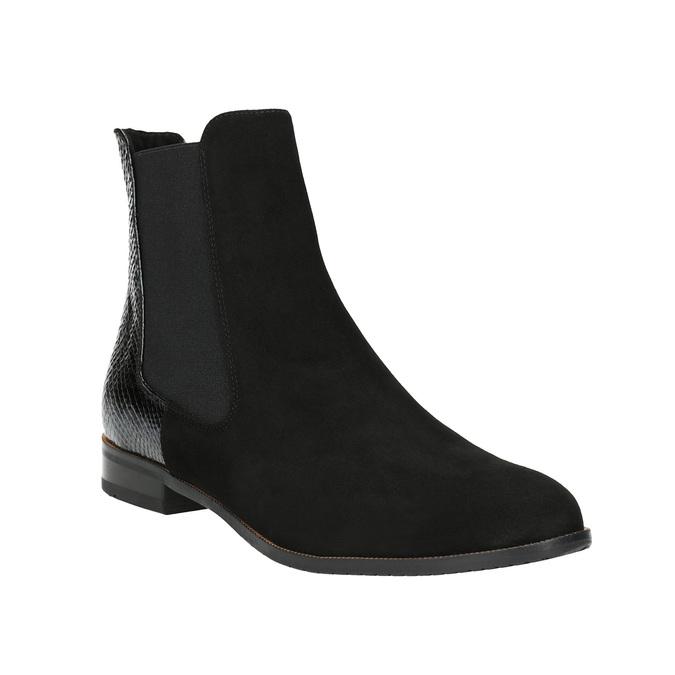 Kožená kotníčková obuv ve stylu Chelsea Boots classico-and-bellezza, černá, 513-6001 - 13