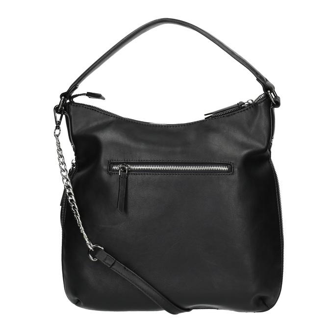 Kabelka v Hobo stylu s detailem zipu bata, černá, 961-6609 - 19