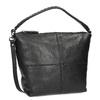 Kožená kabelka s odnímatelným popruhem bata, černá, 964-6233 - 13