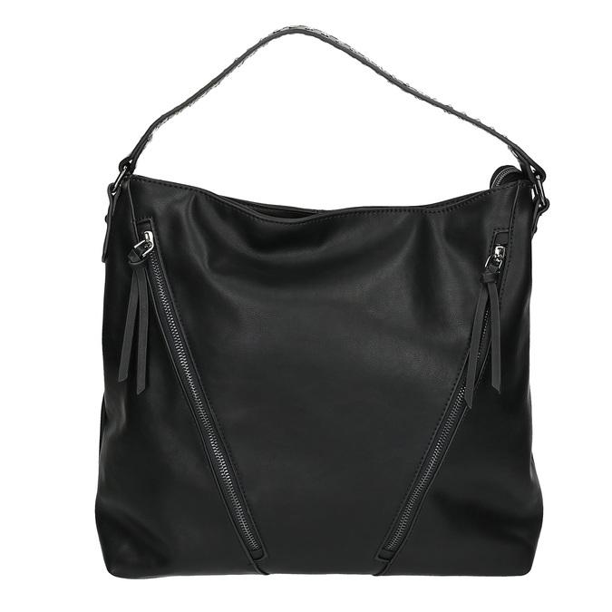 Dámská kabelka se zipy bata, černá, 961-6127 - 26