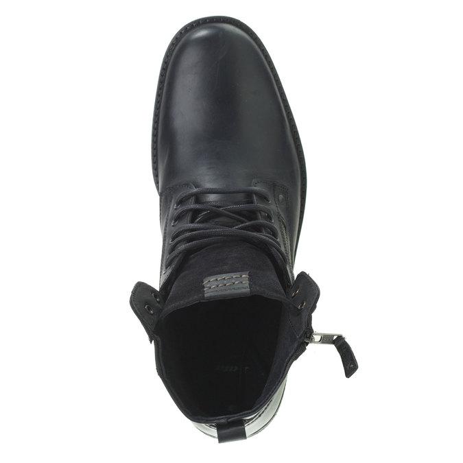 Kožená kotníčková obuv bata, černá, 894-6449 - 19