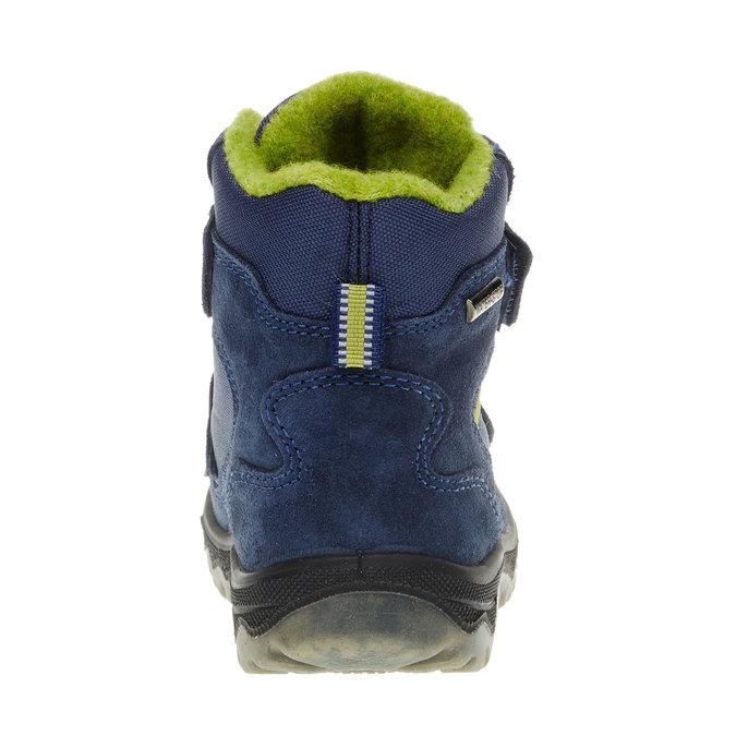 Kožené dětské boty mini-b, modrá, 293-9150 - 17