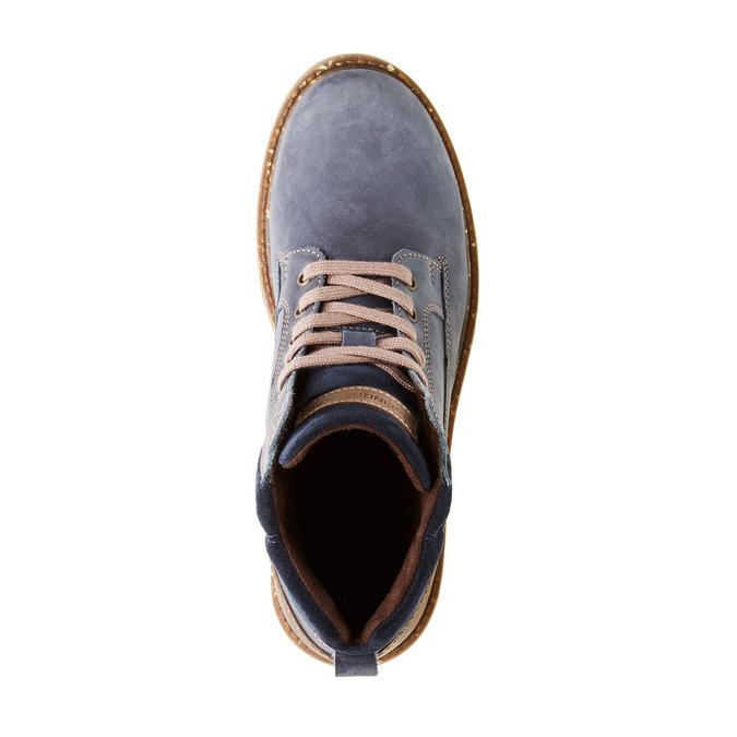 Kožené kotníčkové boty s výraznou podešví weinbrenner, modrá, 896-9102 - 19