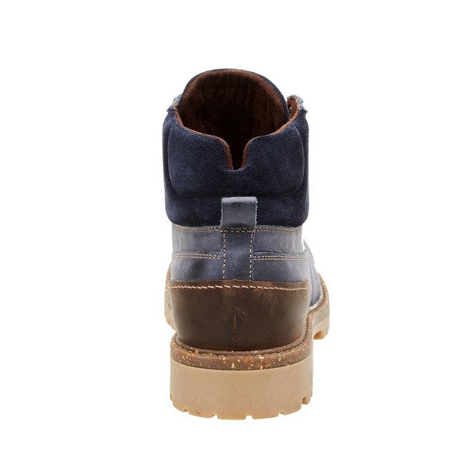 Kožené kotníčkové boty s výraznou podešví weinbrenner, modrá, 896-9102 - 17