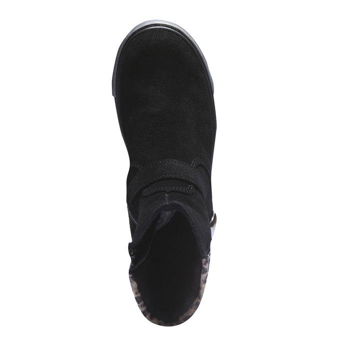 Dívčí kotníčková obuv richter, černá, 393-6003 - 19