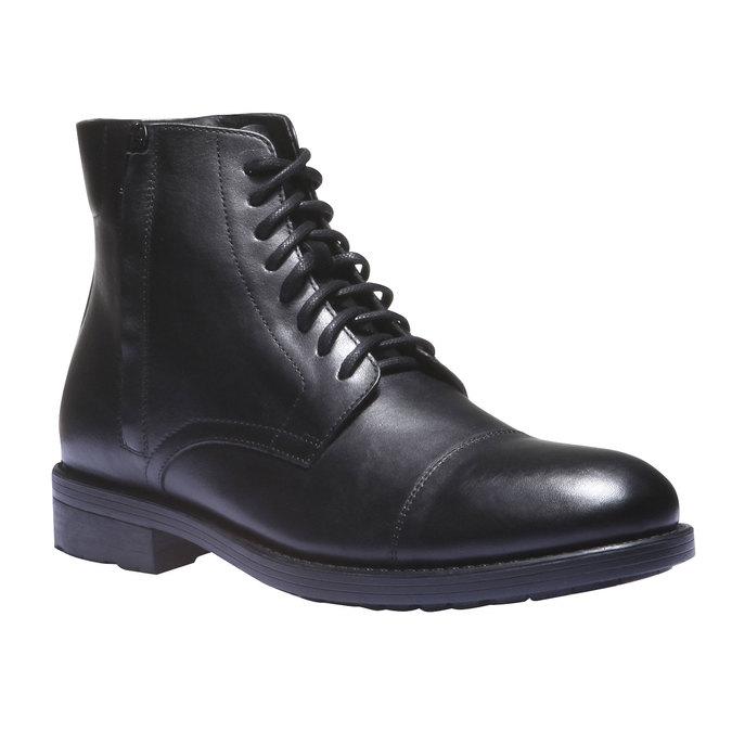 Kožené kotníkové boty v Derby střihu bata, černá, 894-6259 - 13