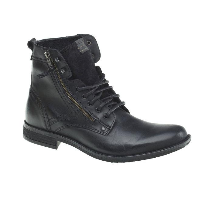 Kožená kotníčková obuv bata, černá, 894-6449 - 13
