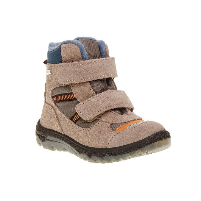 Kožené dětské boty mini-b, šedá, 293-2150 - 13