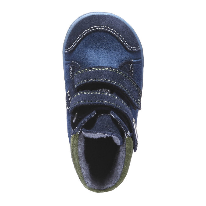Dětská kožená obuv richter, modrá, 193-9004 - 19