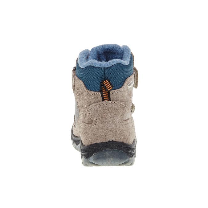 Kožené dětské boty mini-b, šedá, 293-2150 - 17
