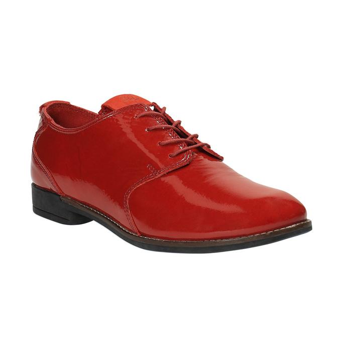 Červené kožené polobotky tbs-, červená, 528-5063 - 13