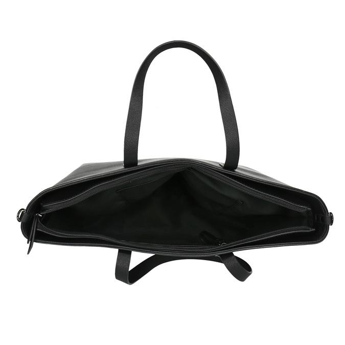 Shopper kabelka s pevným dnem bata, černá, 961-6647 - 15