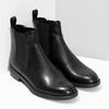 Černé kožené Chelsea Boots vagabond, černá, 514-6007 - 26