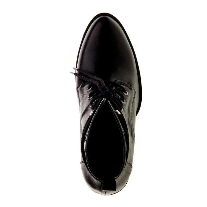 Kožená kotníčková obuv diesel, černá, 794-6141 - 19