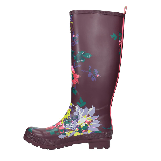 Dámské květované holínky joules, fialová, 502-5005 - 19
