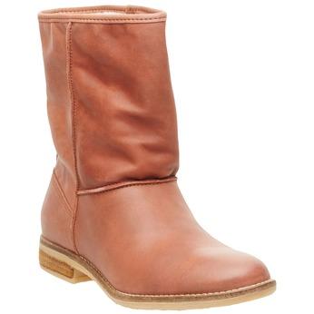 Kožená kotníčková obuv bata, hnědá, 596-4105 - 13
