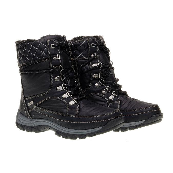 Dámské zimní boty bata, černá, 599-6108 - 26