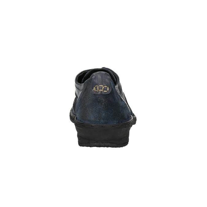 Dámské kožené tenisky bata, modrá, 526-9601 - 17