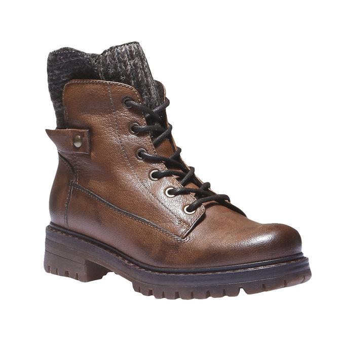Kožené kotníkové boty bata, hnědá, 596-4104 - 13