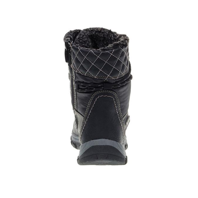 Dámské zimní boty bata, černá, 599-6108 - 17