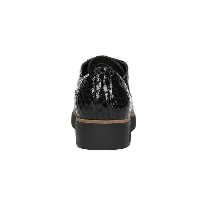 Ležérní kožené dámské polobotky bata, černá, 526-6613 - 17