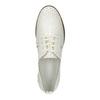 Světlé kožené polobotky bata, bílá, 526-1613 - 19
