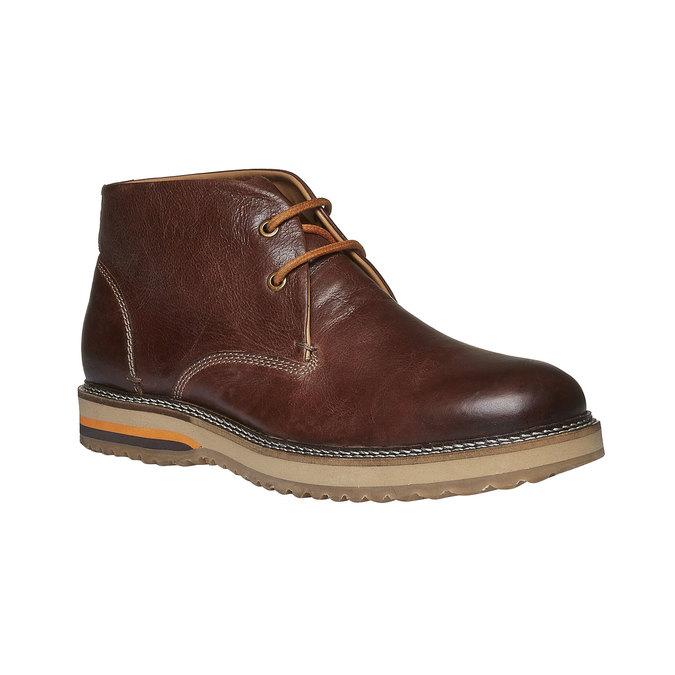 Kožené kotníkové Desert Boots bata, hnědá, 894-3114 - 13